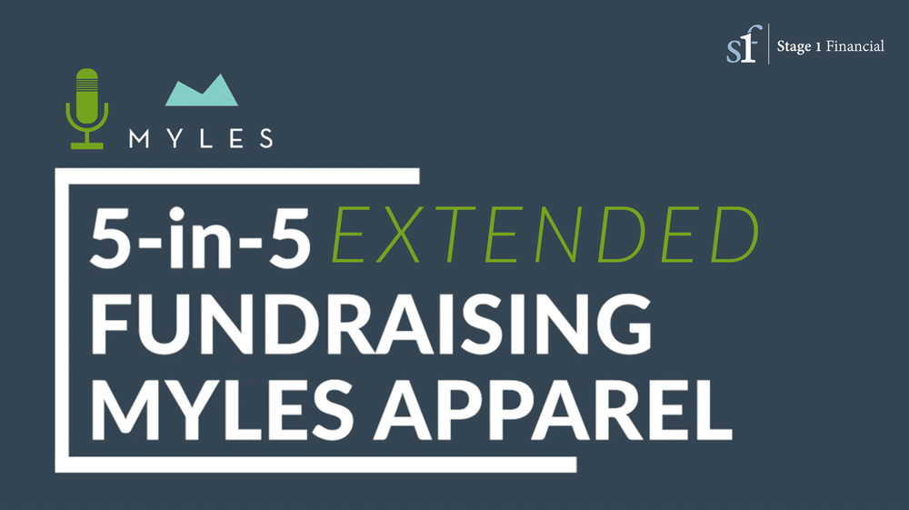 financial podcast myles apparel fundraising